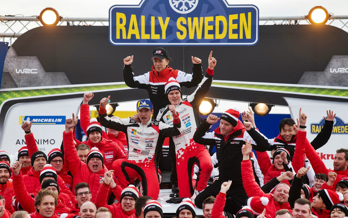 WRC: Ott Tänak ganó en Suecia y pasó al frente del torneo