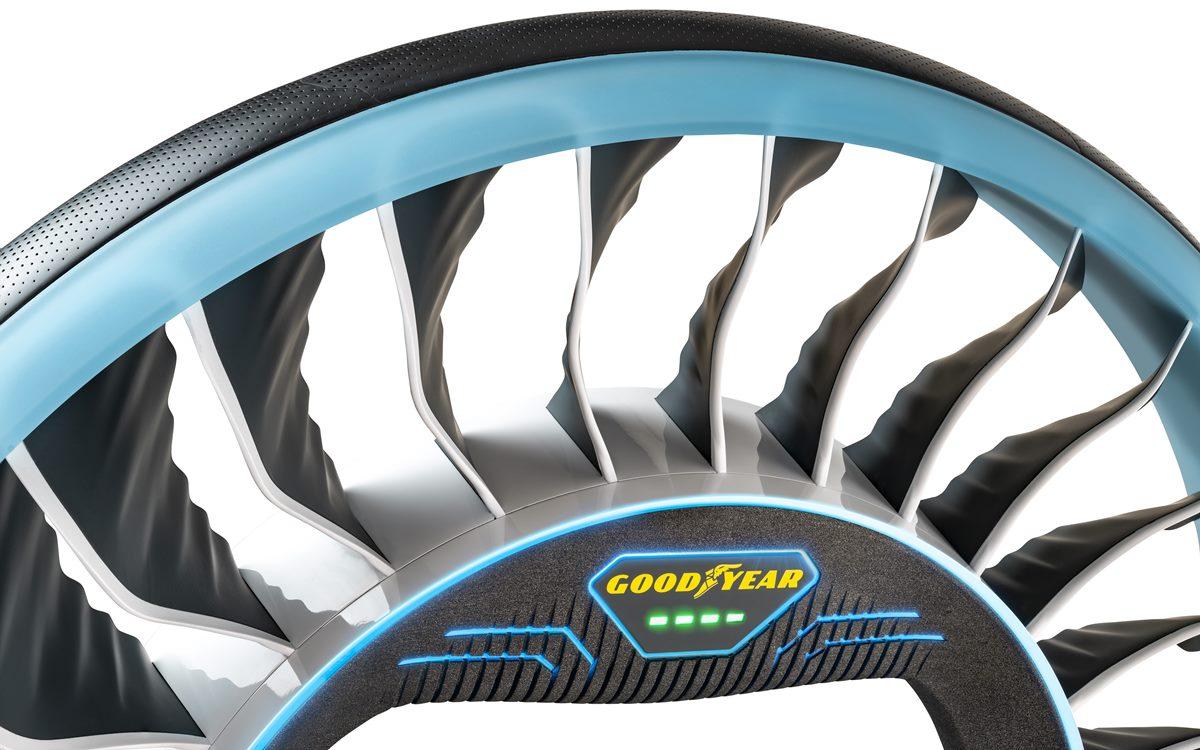 Goodyear AERO: El neumático que puede volar