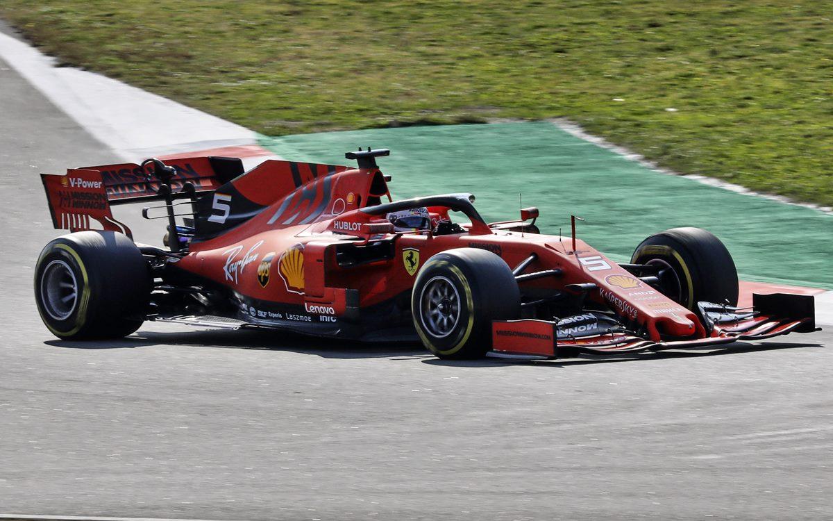 Sebastian Vettel y Ferrari cierran la pretemporada de la F.1 bien arriba