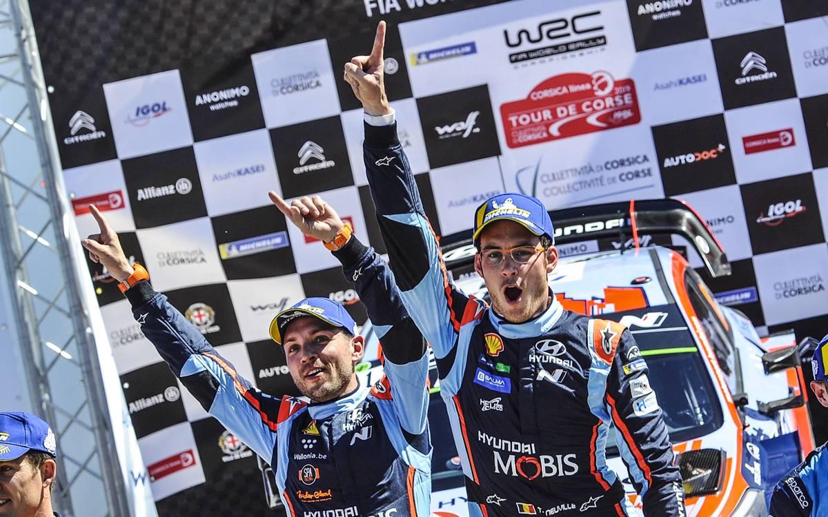 Thierry Neuville ganó en Córcega y llega como líder al Rally de Argentina