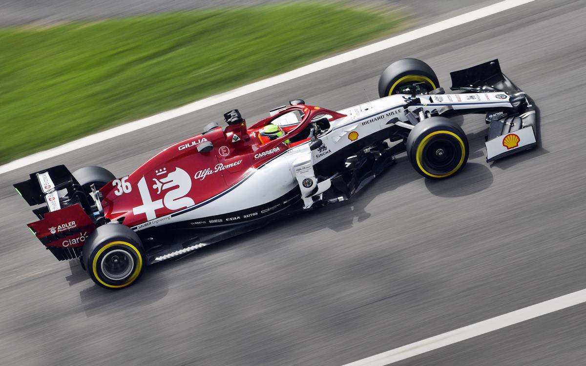 Mick Schumacher también giró con Alfa Romeo Racing