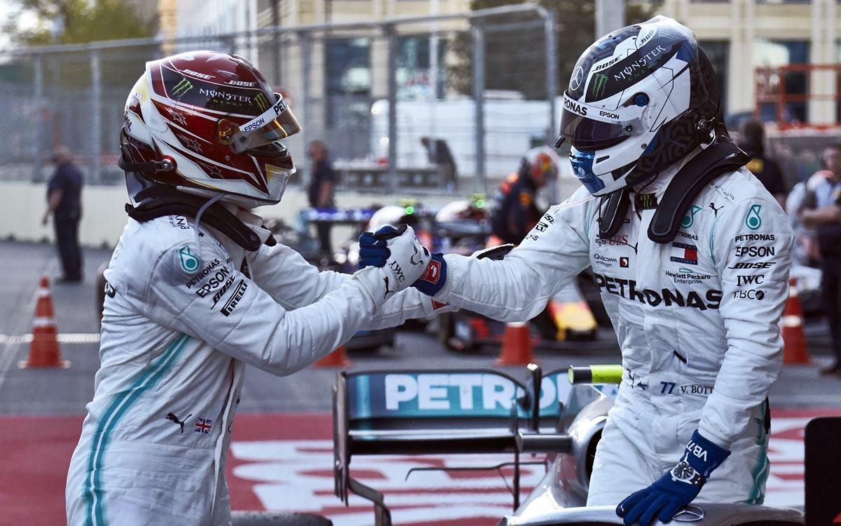 Valtteri Bottas y Lewis Hamilton logran un doblete histórico para Mercedes