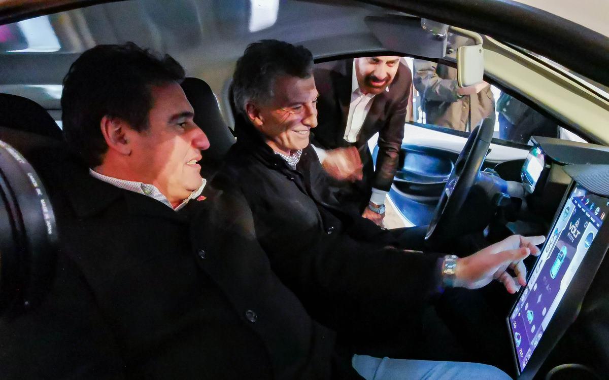 El Presidente Mauricio Macri visitó VOLT motors