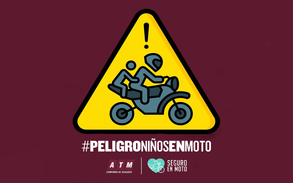 #PeligroNiñosEnMoto, la nueva campaña de ATM