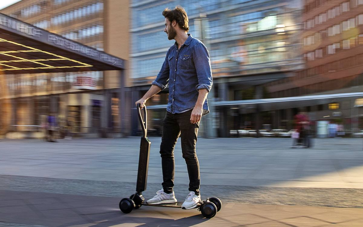 Audi e-tron Scooter: Monopatín eléctrico para surfear en la ciudad