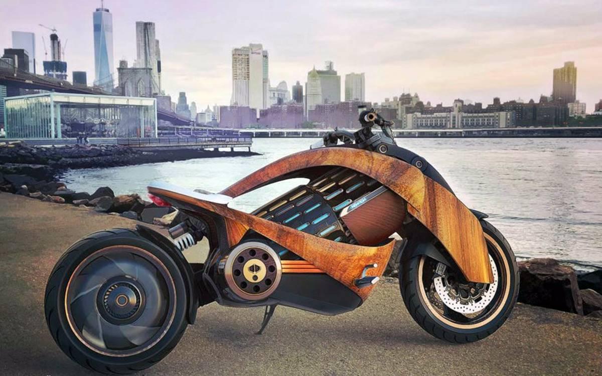 Newron Motors EV1: Moto eléctrica de buena madera