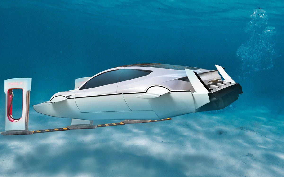 Elon Musk ya tiene el diseño de su Tesla submarino