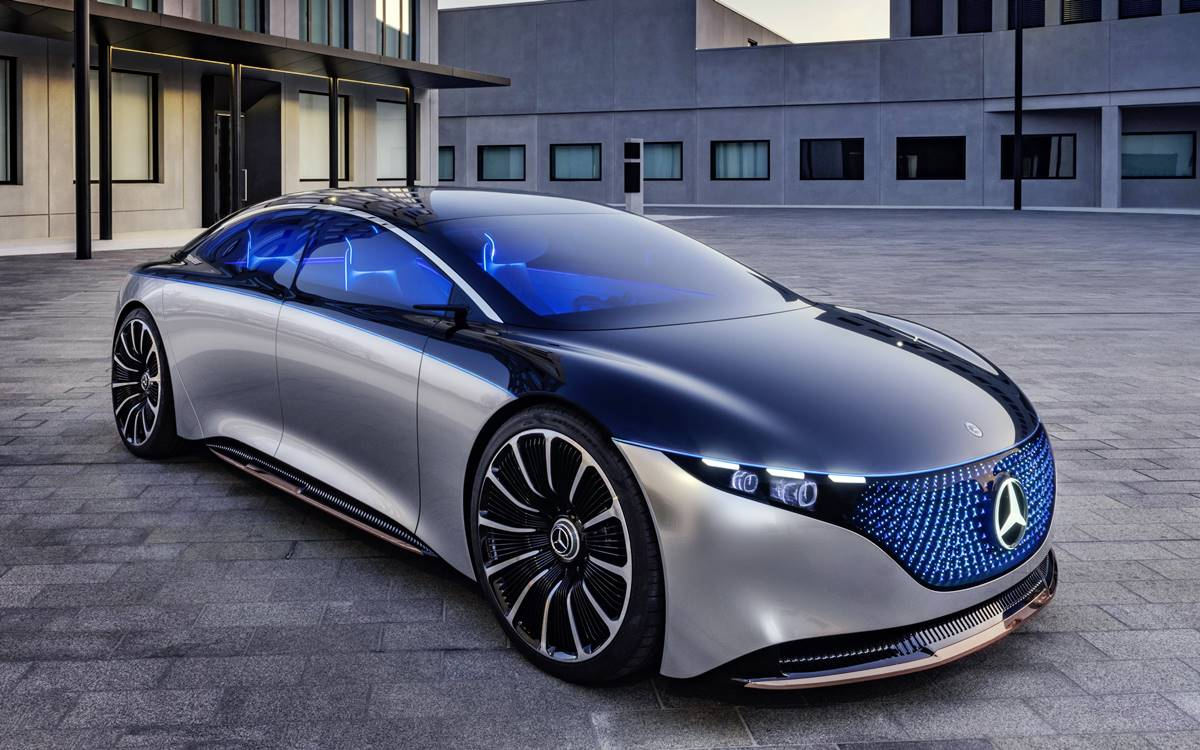 Mercedes-Benz VISION EQS: Un futuro luminoso