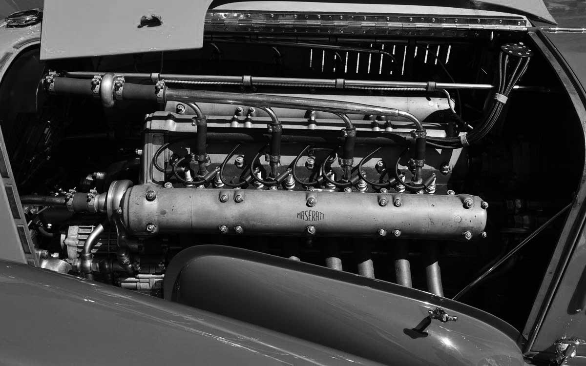 Maserati Tipo V4: El auto con dos motores que batió un récord