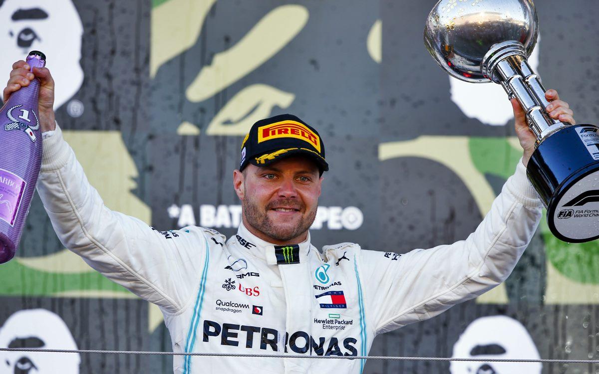 GP de Japón: Festejo de Valtteri Bottas y Mercedes