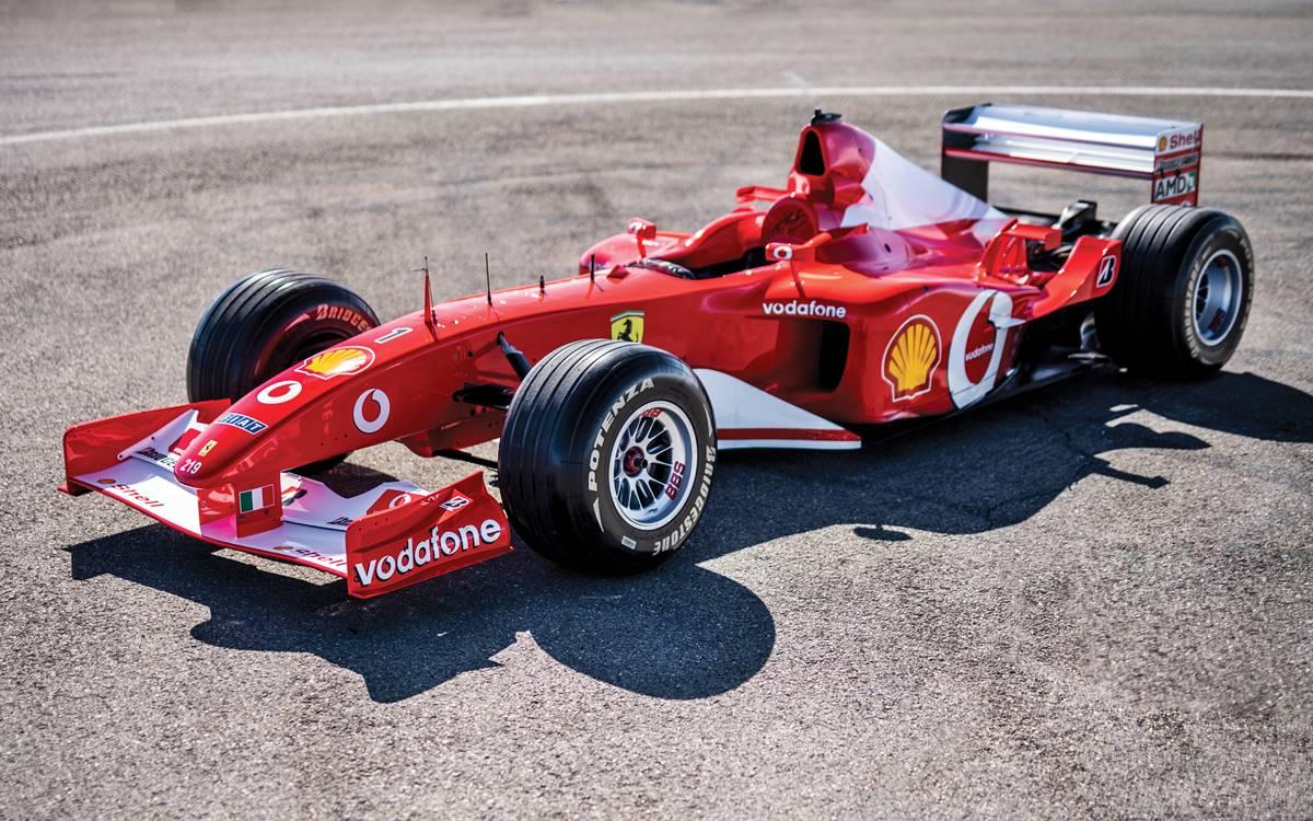 Ferrari F2002 que manejó Michael Schumacher vendida en 6 millones de euros