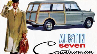 Photo of Austin Seven Countryman y Morris Mini Traveller, autos de buena madera